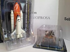 Space Shuttle Atlantis + Apollo Lunar Module Space Crafts Usa Models DeAgostini