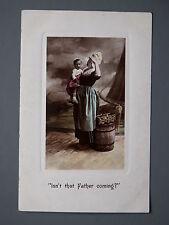 R&L Postcard: Aristophot Co Portrait of Fisher Woman Lass & Child