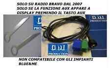 Kit cavo AUX Fiat Bravo dal 2007 con jack femmina a pannello e chiavi autoradio