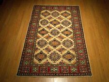 4 x 6.3 High Quality Handmade Veggie Dye Fine Wool Afghan Caucasian Kazak Rug