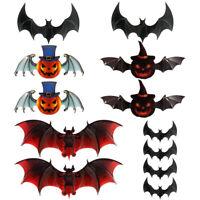 Scary Halloween Props Decor Stickers fête lanterne mur fenêtre chauves-souris G