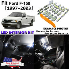 12x White LED Interior Lights Package Kit For 1997 - 2002 2003 Ford F150 +Tool