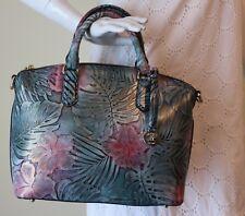 Brahmin Duxbury Satchel Green Solandra Floral Melbourne Dust Bag+Registration