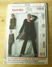 BURDA Pants, Top and Jacket Pattern #8720 Misses Size 12-22 UNCUT