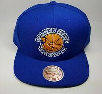 Golden State Warriors Mitchell   Ness Vintage Solid Wool Snapback Hat Cap  NBA c5907f5ab