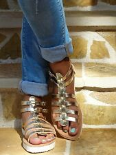 Ancient Genuine Leather Roman Gladiator Sandals