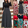 Women Party Evening Long Sleeve Floral Maxi Dress Ladies Holiday Cocktail Dress