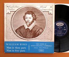 RG 362 William Byrd Mass In Three Four Parts King's College Argo ED1 Mono EX/VG