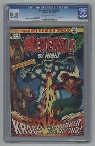 Werewolf By Night #8 1973 Mike Ploog 1st Krogg Only 9 9.8s On Census CGC 9.8