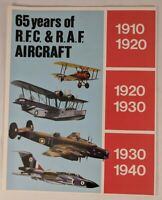 65 Years Of R.F.C. & R.A.F. Aircraft Chart/Poster 51 Aircraft In Full Color