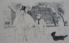 BRUNNER ZIG Menu, 1948, les bibliophiles de Montmartre, 1 plaquette, 2 feuillets