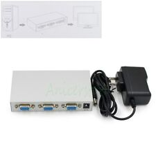 1 in 2 out 2 Port VGA Video Splitter Amplifier Sharing Box for LCD TV PC Monitor