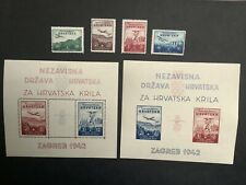 Charity to the Croatian airforce 4 stamps and 2 mini sheets (124x110mm)