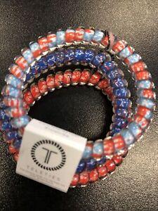 Teleties 3 Pack Small Hair Ties U S Of Yay Ponytail Holder Bracelets NEW
