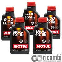 5 LITRI OLIO MOTUL ECO-LITE 0W-20 100% SINTETICO - 104981