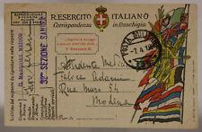 POSTA MILITARE 126 FRANCHIGIA TIMBRO 32^ SEZIONE SANITA'  7.4.1919 #XP467D
