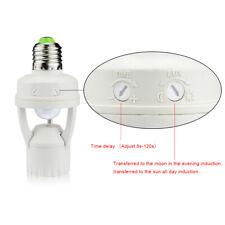 Adaptador de conmutador de zócalo E27 Sensor De Movimiento PIR LED Luz Lámpara Bombilla Soporte