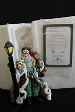Thomas Kinkade Light of St Nicholas Christmas Santa Lamppost with COA