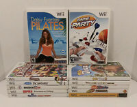 Lot of 12 Nintendo WII Video Games With Manuals Rapala Game Party Sing It GC