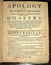 1678 Robert Barclay QUAKERS Apology QUAKERISM Christian THEOLOGY Society FRIENDS