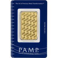 1 oz. Gold Bar - PAMP Suisse - Suisse Design - 999.9 Fine in Sealed Assay