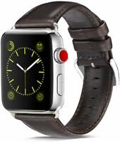 For Apple Watch Series 1/2/3/4/5 38/40/42/44mm Strap Genuine Leather Wrist Band