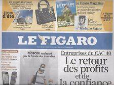LE FIGARO N°20533 07/08/2010  SOCIETES CAC 40/ SPAGGIARI/ LIBAN/ RUSSIE/ CLEAC'H