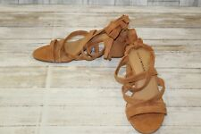 Lucky Brand Idalina Strap Heels - Women's Size 9M, Cafe Suede NEW!