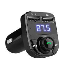 Kit Auto Vivavoce Wireless Bluetooth Trasmettitore FM LCD MP3 lettore