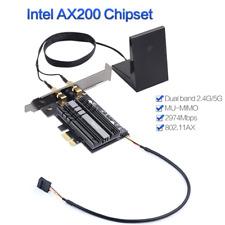 2400Mbps PCI-E Wifi Adapter Bluetooth 5.0 Intel AX200 Card 802.11ax Desktop PC