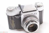 ✅ ROYER SAVOYFLEX SLR CAMERA DOUBLE FOCUS MACRO SOM BERTHIOT 50MM 2.8 LENS