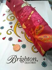 Brighton Red Butterfly pocket Umbrella Nwt Laughter In The Rain rare