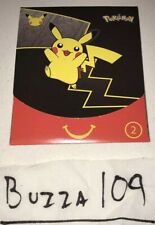 McDonalds Happy Meal Promo 25th Pokemon Anniversary Cards Promotion Pack Toy #2