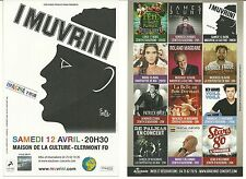 FLYER PLV - I MUVRINI ( CORSE) EN CONCERT LIVE 2014 A CLERMONT FERRAND -AUVERGNE