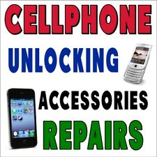 CELLPHONE REPAIR UNLOCKING (CHOOSE YOUR SIZE) PERFORATED WINDOW VINYL DECAL NEW