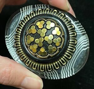 vintage Antique large buttons brooch pin jewelry