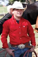 Cinch Boy's Solid Red Button Up Western Shirt MTW7060029