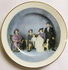 Fenton Fine Bone China Staffordshire 'Four Generations' Royal Family Plate