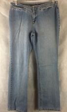 Women's Old Navy Flare Leg Low Waist Blue Jeans Cotton Size 2 Inseam 29""