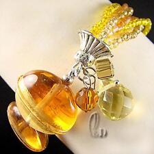 AU SELLER Lovely Murano glass lampwork&Crystal bracelet 020382