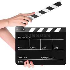 Director Movie Video Film Clapboard Slate Cut Scene Acrylic Clapper Board O2A5