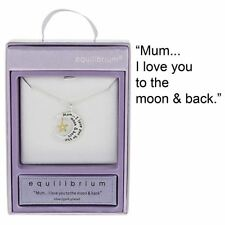 "Equilibrium Silver Plated Necklace ""Mum... I love you to the moon & back"""