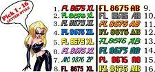 Custom Boat Jet Ski 2 color Registration Numbers  PWC  Lettering vessel sea doo