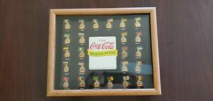 Coca-Cola World Cup 1994 Collector Pin Set 24 Pins Framed