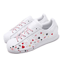adidas Originals Superstar W White Pink Heart Valentine Women Casual Shoe FV3289