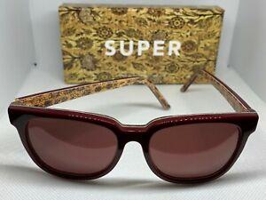 RetroSuperFuture 812 People Tapestry Burgundy Frame Size 53mm Sunglasses NIB