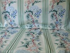 BRUNSCHWIG & FILS K'ANG HSI COTTON PEONY CHINOISERIE MINT GREEN CELEDON BLUE BTY