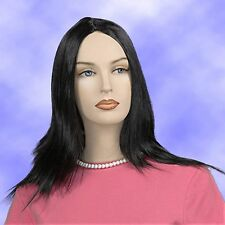 Long Straight Brown Wig with Skin Part Sexy Party Costume Fun JDSW75