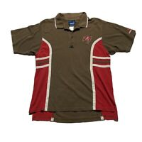 Mens Retro Adidas Team Tampa Bay Buccaneers NFL Polo Shirt Embroidered Large