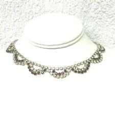 Vintage Jewllery Stunning Scalloped Rhinestone Necklace